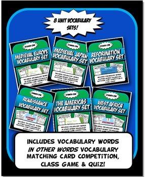 Medieval History Vocabulary Bundle