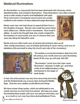 Medieval Illuminations - A Supplemental Art Project for Medieval History