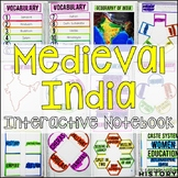 Medieval India Interactive Notebook & Graphic Organizers Middle Ages