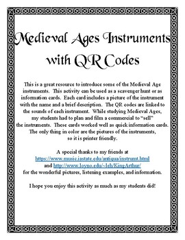 Medieval Instruments Activity