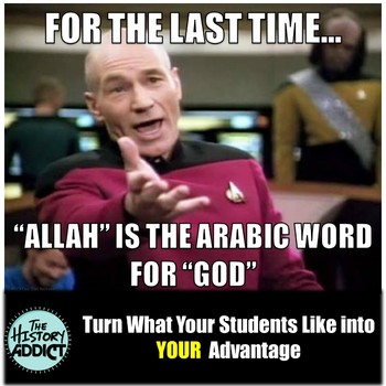 Middle Ages Islam (Medieval Middle East) Themed Classroom Poster Set (Memes)