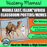 Middle Ages Islam, Middle East, & West Africa Themed Classroom Poster Set Memes