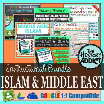 Medieval Islam & Middle East Interactive Notebook Instructional Bundle