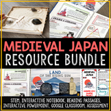 Medieval Japan Activities Resource Bundle - Feudal Japan