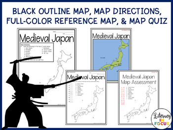 Medieval Japan Map Lesson and Assessment