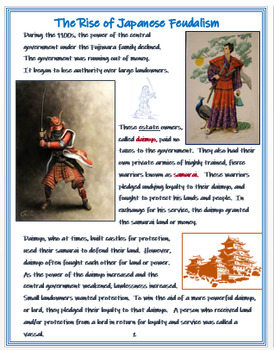 """Japanese Feudalism"" + Assessment"