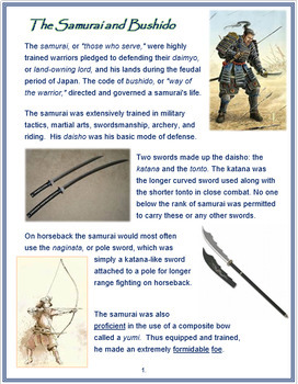 The Samurai and Bushido + Assessment