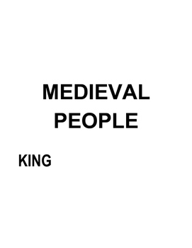 Medieval Jobs (Labels; Matching Game)