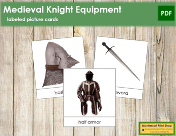 Medieval Knight Picture Cards