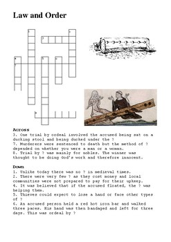 Medieval Crime and Punishment Crossword