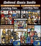 Medieval Mania Clip-Art Bundle! 100 Pieces. Middle Ages Visuals!
