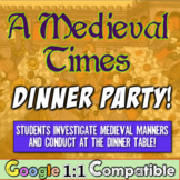 Middle Ages Manners: Students attend a Medieval Dinner Party!  Eye-Opening!