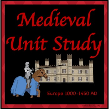 Medieval Math and Literacy Distance Learning Pack/Unit Study