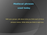 Medieval (Middle Age) Phrases