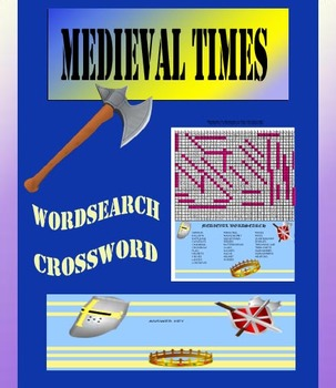 Medieval Middle Ages Worksheets - Word Search WordScramble