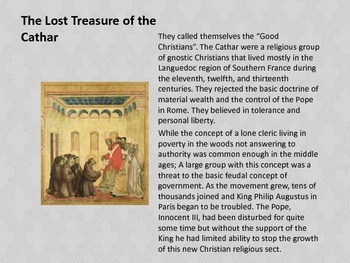 Medieval Mysteries - The lost Treasure of the Cathar