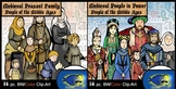 Medieval People Combo!  Peasants and Power. 28 Pc. Middle Ages Clip-Art Set!