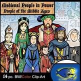 """Medieval """"People in Power"""" Clip-Art Set! King Henry VIII & Anne Boleyn! 14 Pc."""