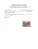 Medieval Period in Europe Part 1 Guided Notes