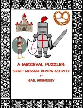 Medieval Puzzler: Secret Message Review Activity