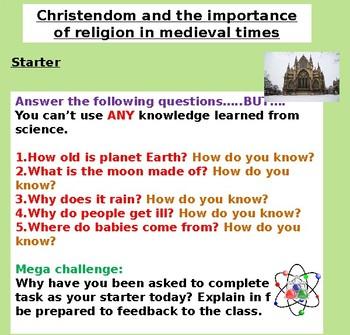 Medieval Religion and Christendom