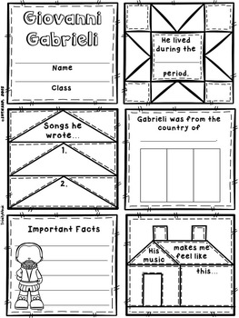 Medieval & Renaissance Composers Quilt Worksheets
