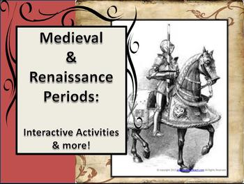 Medieval &  Renaissance Periods (Interactive Notebook, Lesson Ideas & More)