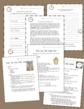 Science Activities: Medieval Science: Sundials, Candle Clocks, and Water Clocks