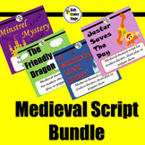 Medieval Scripts for readers theater, short play or puppet