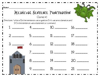 Medieval Sentence Punctuation