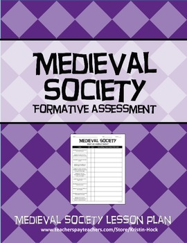 Medieval Society - Formative Assessment lesson plan