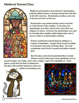 Medieval Stained Glass Craft and Activity
