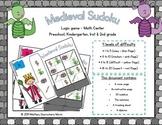 Medieval Sudoku - Logic Game - Math Center - Castle themed - Junior