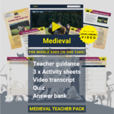 Medieval   The Middle Ages (In One Take) Activity Pack and