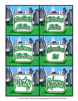 Medieval Theme Book Bin Labels
