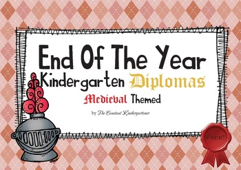 Medieval Themed Diplomas for Kindergarten FREEBIE!