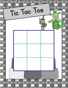 Medieval Tic Tac Toe - Jeu de morpion médiéval - Castle-themed game