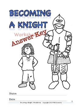 Medieval Times: Becoming a Knight - Worksheets and Answer Key