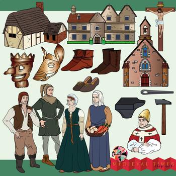 Medieval Life Clip Art By Christine O Brien Creative Tpt