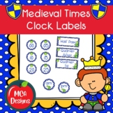 Medieval Times - Clock Labels