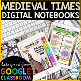 Medieval Times Digital Interactive Notebooks | Middle Ages Distance Learning