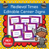 Medieval Times - Editable Center Signs