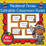 Medieval Times - Editable Classroom Rules