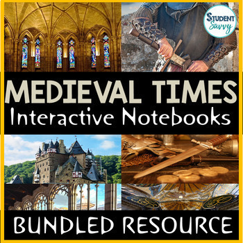 Medieval Times - Middle Ages Interactive Notebook Bundle
