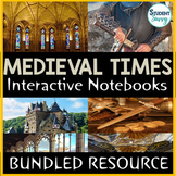 Medieval Times - Middle Ages Interactive Notebook Bundle |