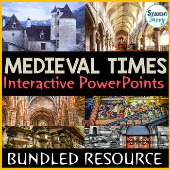 Medieval Times - Middle Ages Interactive PowerPoints | Distance Learning Google