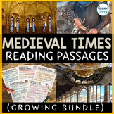 Medieval Times Reading Passages Bundle - Middle Ages