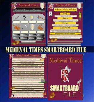 Medieval Times - Smartboard Whiteboard File Middle Ages 84 Slides
