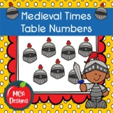 Medieval Times - Table Numbers