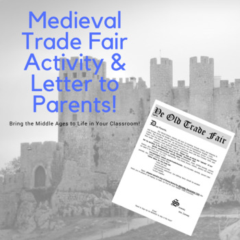 Medieval Trade Fair Activity & Letter to Parent